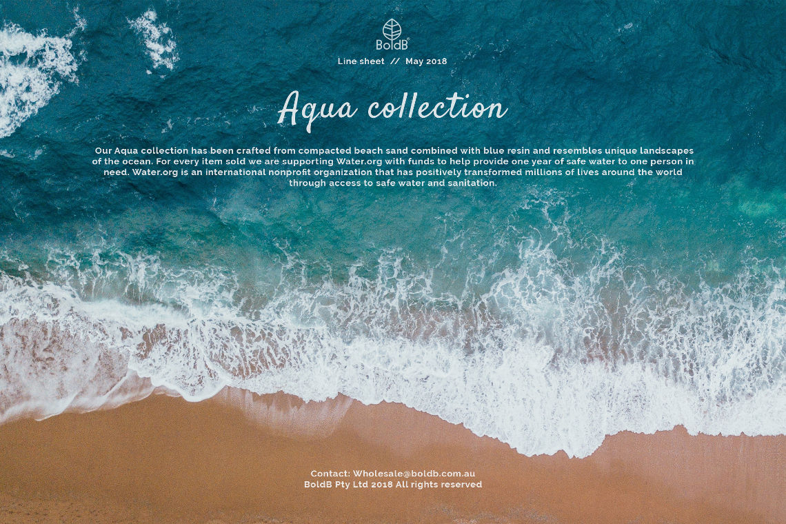 Aqua Collection Line Sheet Front Cover