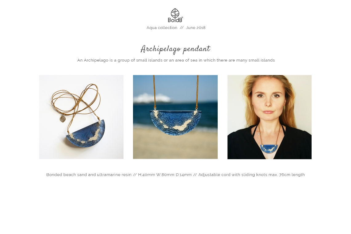 Wholesale jewellery catalogue - Archipelago Statement Necklace