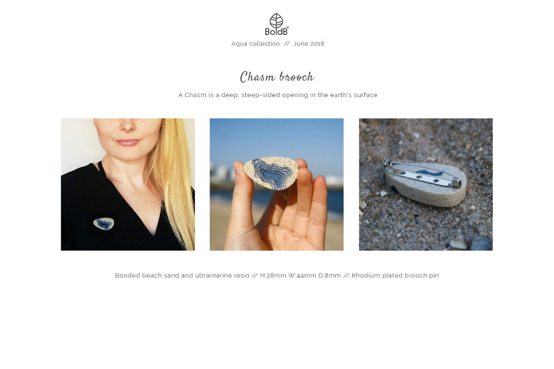 Wholesale jewellery catalogue - Chasm Brooch