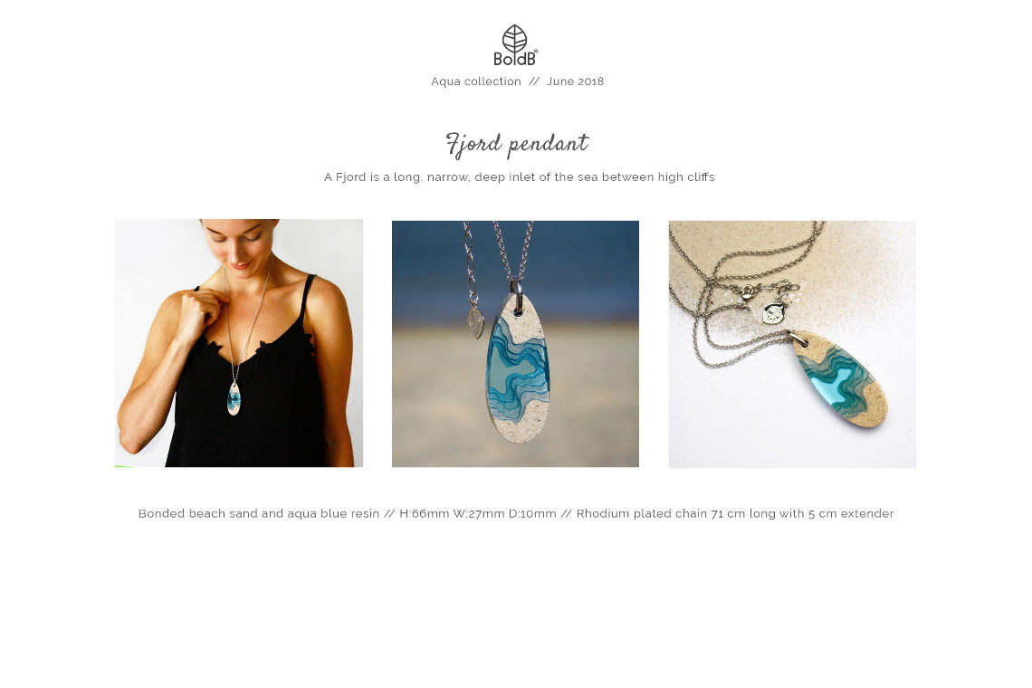 Wholesale jewellery catalogue - Fjord Necklace