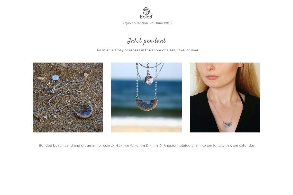 Wholesale jewellery catalogue - Inlet Necklace