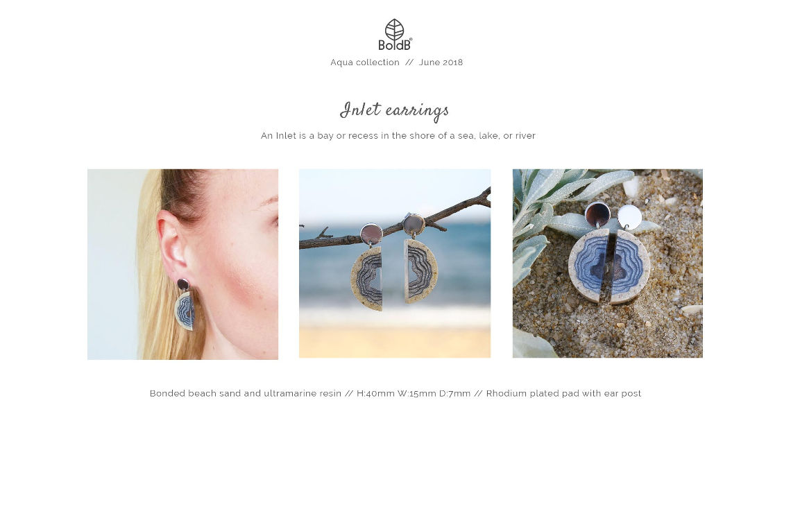 Wholesale jewellery catalogue - Inlet Statement Earrings