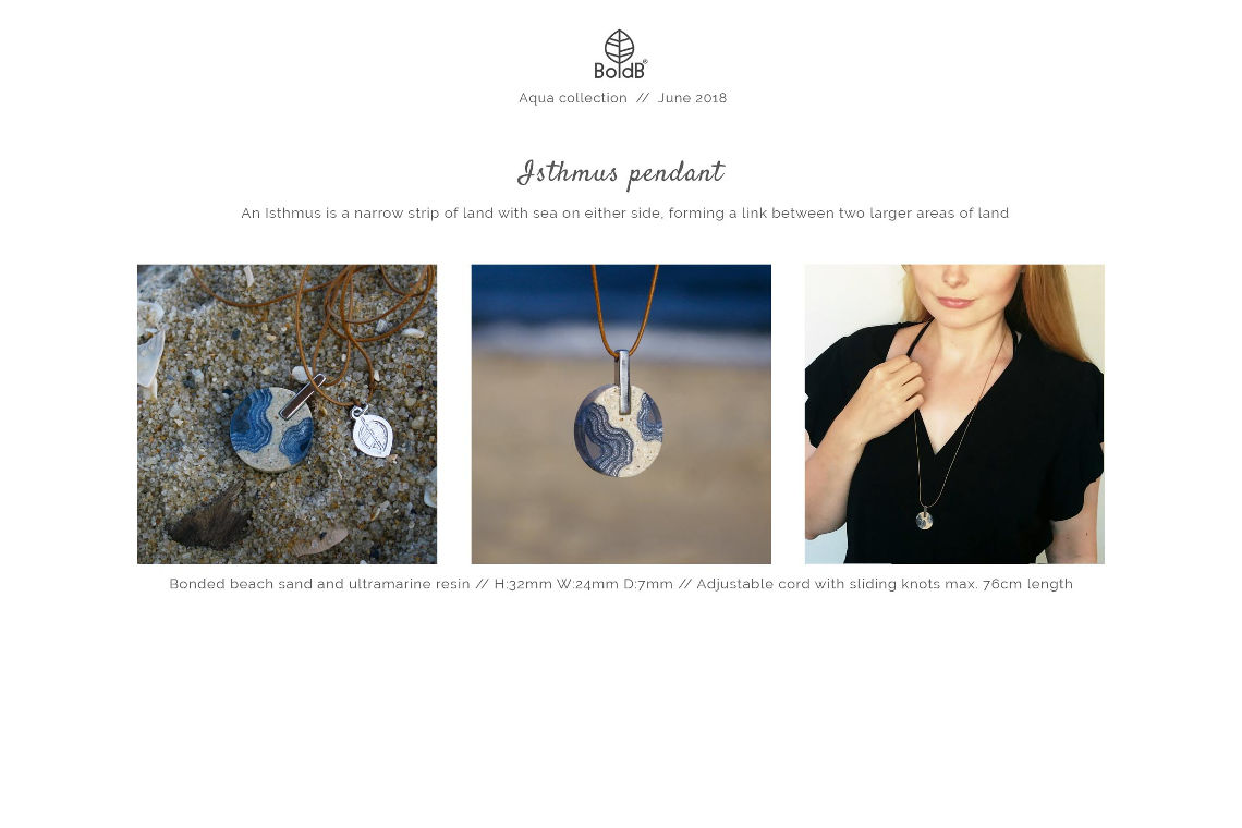 Wholesale jewellery catalogue - Isthmus Necklace