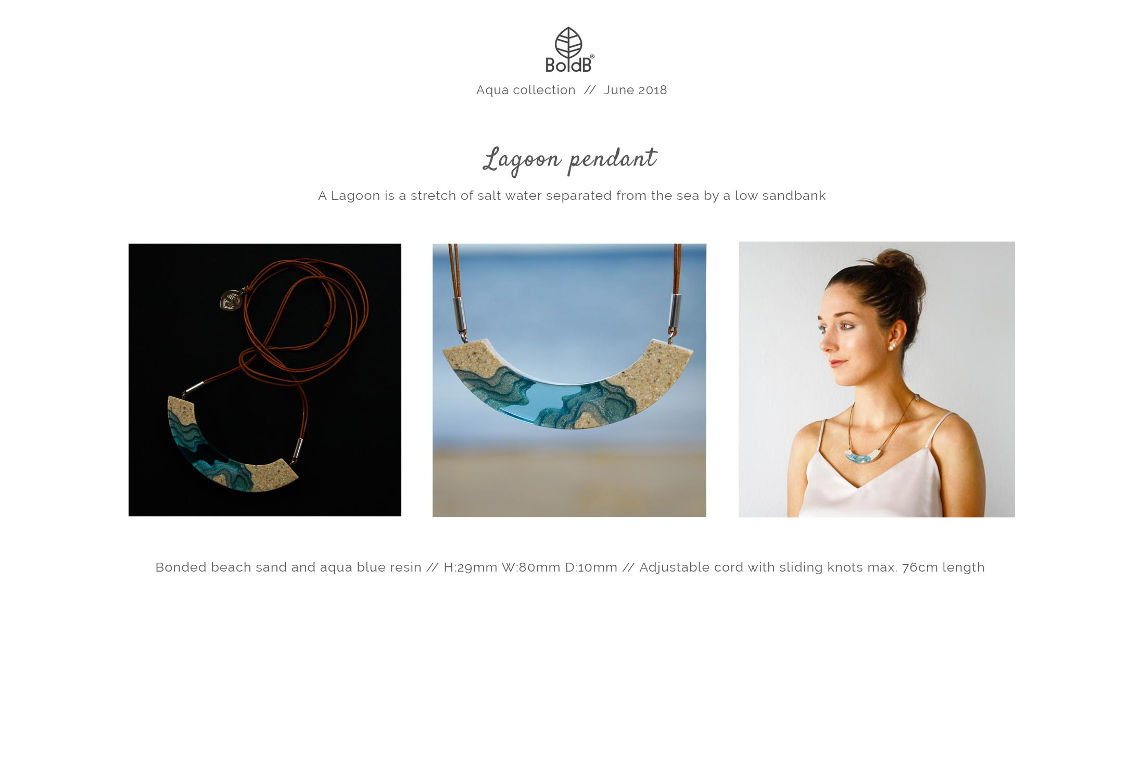 Wholesale jewellery catalogue - Lagoon Necklace