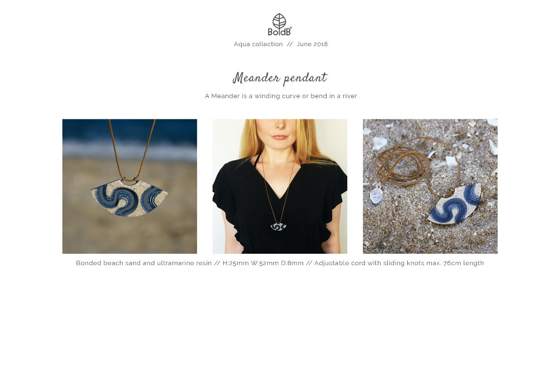 Wholesale jewellery catalogue - Meander Necklace