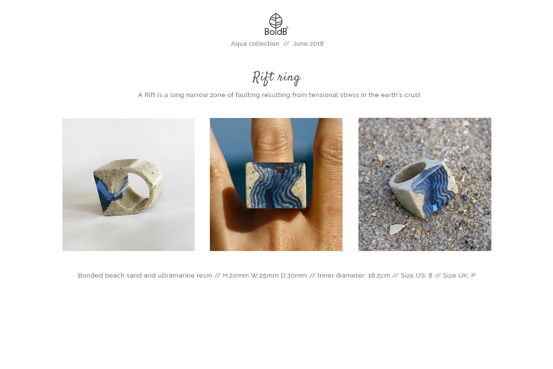 Wholesale jewellery catalogue - Rift Statement Ring