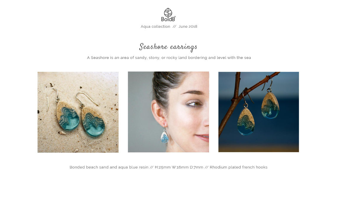 Wholesale jewellery catalogue - Seashore Dangle Earrings