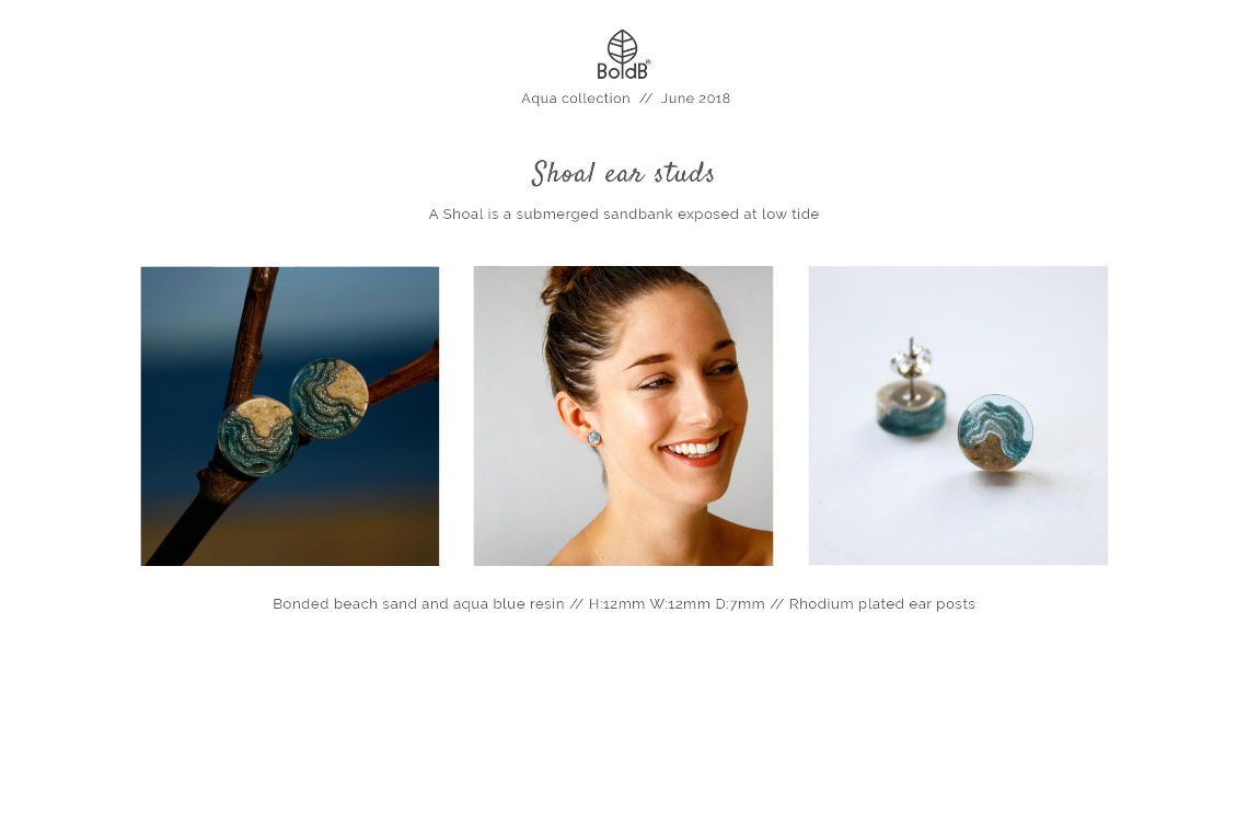 Wholesale jewellery catalogue - Shoal Stud Earrings